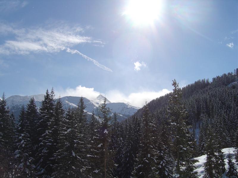 Winterlandschaft in den Alpen zu Corona Zeiten