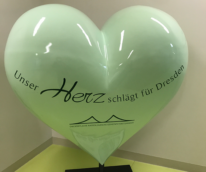 Herz aus dem radiologischen Zentrum an der Uniklinik Dresden, wo mmeine MRT Untersuchungen erfolgen