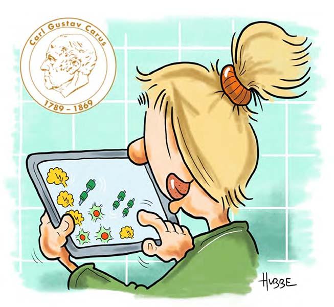 Karikatur von Phil Hubbe zu den digitalen Funktionstests aus der Broschüre vom MS-Zentrum zum Welt-MS-Tag 2021